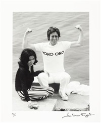 john lennon and yoko ono by jean-pierre fizet