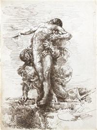 homme déterrant un cadavre by françois nicolas chifflart