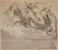 elias in the chariot of fire by johann friedrich overbeck