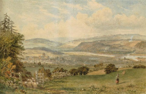 view over hexham by thomas h hair