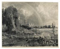 salisbury cathedral (after john constable) by david lucas