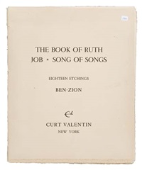 book of ruth - job - song of songs (portfolio of 18 wjustif. & text) by ben-zion