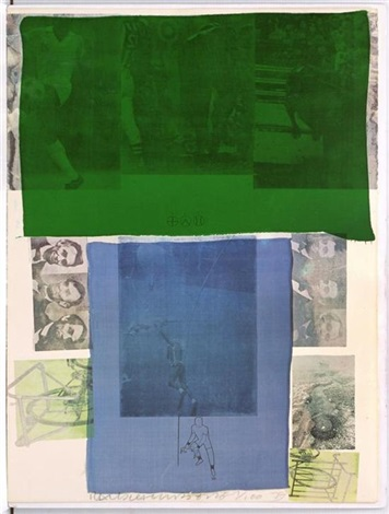 shoot from the main stem de the suite of nine prints by robert rauschenberg
