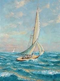 yacht on the open sea, cape by adelio zeelie (zagnie)