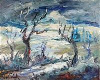 paysage enneigé by albert vagh
