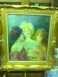 trois jeunes femmes by félix courche