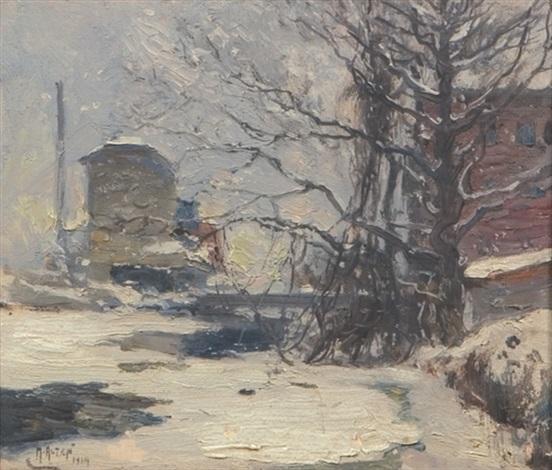 snowscene by mathias joseph alten