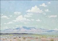 atmospheric desert landscape by victor clyde forsythe
