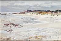 île d'yeu, plage des marais salé, à marée basse by jean rigaud