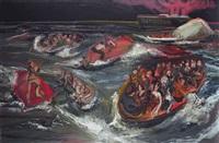 sinking of a book by omar khayyam by rokni haerizadeh