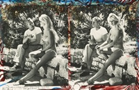cousin jerome hill and b.b.(brigitte bardot) @ la batterie, cassis, b. du r., s. france (diptych) by peter beard
