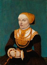 portrait einer jungen frau by conrad (von creuznach) faber