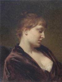 bildnis einer dame by tony robert-fleury