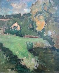maison dans la campagne verdoyante by alfred swieykowski