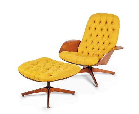 Beau Playcraft Lounge Chair And Ottoman (mr. Chair) By George Mulhauser