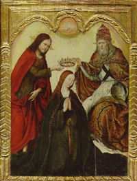 the coronation of the virgin by simon marmion