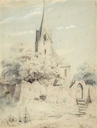 kirche mit friedhof by peter becker