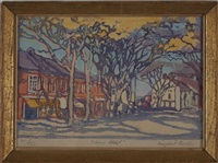 main street, nantucket 1918 by margaret jordan patterson
