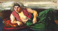 odaliscă cu şalvari verzi by iosif iser