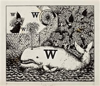 w (witch/wheel/wall...)(illustration for a is for angel) by benito (beni) montresor