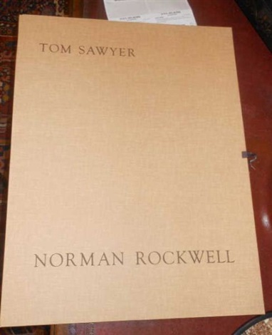 tom sawyer (portfolio of 8) by norman rockwell