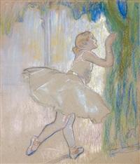 ballerine derrière un rideau by louis auguste mathieu legrand
