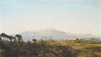 scenery from the roman campagna by emma auguste loffler