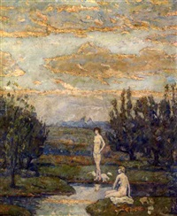 landscape with nudes by joseph b. grossman
