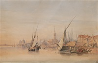 panoramic view of venice by carl martin laeisz
