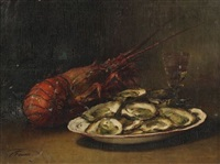 nature morte à l'écrevisse by guillaume romain fouace