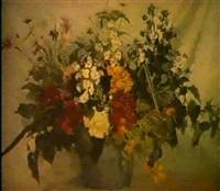 bouquet sur fond drape by ivan sokolov