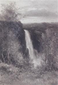 thomas montgomerie falls near quebec, canada by constant auguste de l' aubiniere