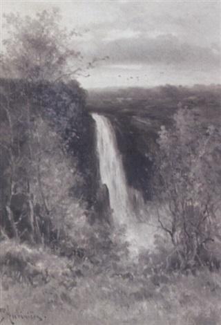 thomas montgomerie falls near quebec canada by constant auguste de l aubiniere