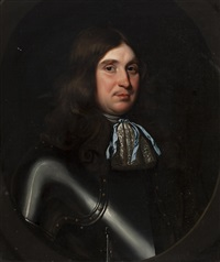 bust length portrait of a man wearing armour by david scougall