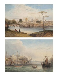 adrianople and the golden horn, istanbul (2 works) by thomas richard hofland