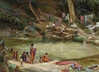 ceylon, washing by richard godfrey rivers