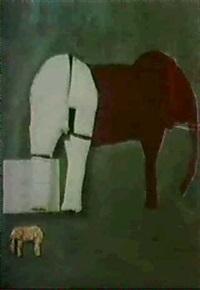 cast sleeping elephant by mihail simeonow
