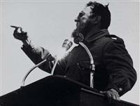 fidel castro prononçant un discours, cuba by diego goldburg