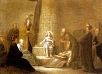 der zwölfjährige christus unter den schriftgelehrten by adriaen gael the younger