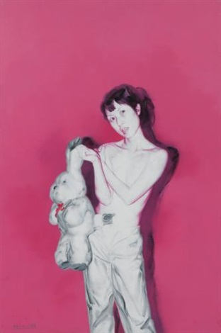 girl and toy no3 by he sen