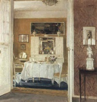 an interior of a breakfast room by karl albrecht