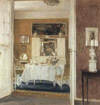an interior of a breakfast room by karl albrecht