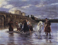 crossing the river by lucien alphonse gros