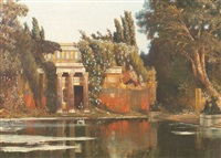 römische villa in gartenlandschaft by max roeder