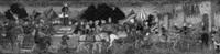 a cassone panel: a triumphal procession of a victorious   general by apollonio di giovanni di tommaso