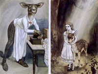 alice and fawn (+ the chef; 2 works) by peter newell