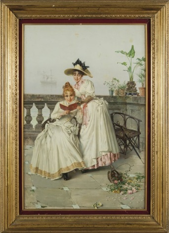 Due ragazze sul terrazzo by Vittorio Matteo Corcos on artnet
