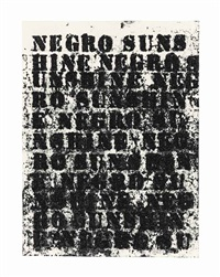 study for negro sunshine #95 by glenn ligon
