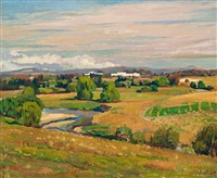 canberra landscape, old parliament house by douglas robert dundas