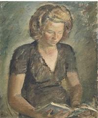 ritratto della sorella luigina che legge by a. testi